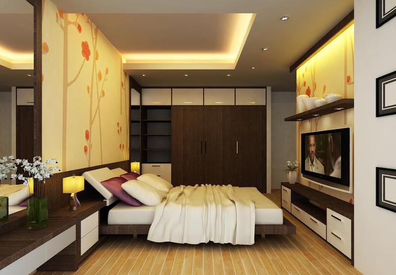 Sự kết hợp tuyệt vời cho phòng ngủ bởi đèn-led và đèn-led-downlight