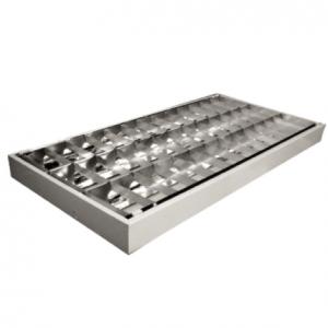 Máng đèn phản quang & lắp nối sản phẩm đạt tiêu chuẩn iEC 60598, là máng đèn phản quang chất lượng cao, lắp âm trần T-Bar và gắn nổi, choá hình parabol & thanh ngang nhôm sọc. Đèn có thiết kế đẹp vững chắc, tuổi thọ cao, hiệu suất phát ánh sáng cao nhờ bộ phản quang phân bổ ánh sáng rộng , đồng đều. Kích thước đa dạng phù hơp cho các công trình cao cấp như: Cao ốc, văn phòng, bệnh viện, trường học, trung tâm thương mại, dịch vụ … THIẾT BỊ ĐIÊN HƯNG THỊNH cung cấp máng đèn tán quang âm trần của DUHAL độc quyền và giá tốt nhất