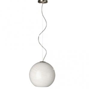Sử dụng một bóng đèn đơn lẻ để trang trí và chiếu sáng, không gian căn phòng nhờ vậy được rộng rãi tạo sự dễ chịu cho người sử dụng khi treo đèn thả trần uốn lượn 37381 Philips ở trên cao tạo được sự tĩnh lặng, đơn giản cho căn phòng tạo nét án tượng lâu dài.