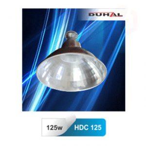 Bộ chóa đèn cao áp công nghiệp Duhal HDC 250 Duhal 1x150W được sản xuất để thay thế các dạng bóng cao áp thông thường khó lắp đặt. Loại đèn chóa công nghiệp HDC 125 được áp dụng cho