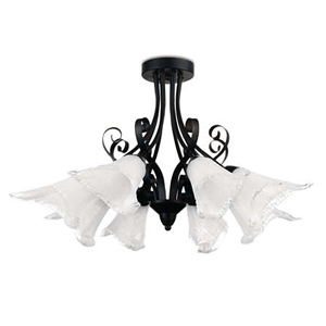 Sản phẩm đèn trang trí dạng chùm 37552 Philips có sự pha trộn giữa các đốm trắng trong chụp đèn tạo nên sự vui nhộn cho chụp đèn hình hoa loa kèn, tưởng tượng đến những giọt nước đọng lại trên cánh hoa loa kèn đang nở rộ vừa tinh khiết và ngọt ngào. Thanh phụ kiện sử dụng chất liệu kim loại cao cấp nên có khả năng chống gỉ sét và ăn mòn cao, tạo độ bóng bảy, vững chắc cho bộ đèn. Sự hài hòa giữa hoa trắng và cành đen làm cho đèn chùm 37552 Philips có được sự tương đồng về không gian, giống như một bông hoa yếu ớt được cánh cây cứng cáp chống đỡ. Vì thế, bộ đèn trang trí 37552 Philips tạo được