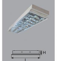 Máng đèn âm trần LDA 6240 2x18w led, Kích thước 1215x300x93mm